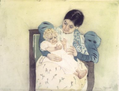 Mary Cassatt (American, 1844-1926). The Barefooted Child, ca. 1896-1897. Color print with drypoint and aquatint on cream, medium thick, moderately textured laid paper, Sheet: 13 1/8 x 16 15/16 in. (33.3 x 43 cm). Brooklyn Museum, Bequest of Mary T. Cockcroft, 46.103