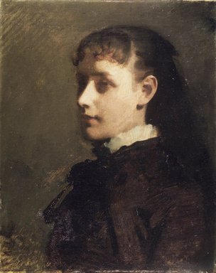 Abbott H. Thayer (American, 1849-1921). Jessie Jay Burge, ca. 1880. Oil on canvas, 19 15/16 x 15 15/16 in. (50.6 x 40.5 cm). Brooklyn Museum, Gift of Jesse Jay Burge and Marie Louise Burge, 46.121