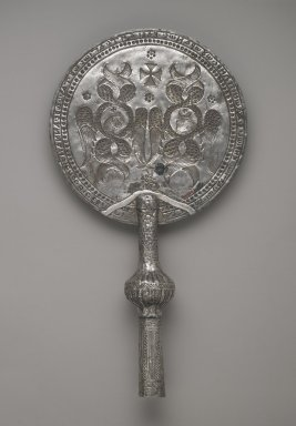 Coptic. Flabella, late 8th-early 9th century C.E. Silver, 16 1/16 x 8 11/16in. (40.8 x 22cm). Brooklyn Museum, Charles Edwin Wilbour Fund, 46.126.1. Creative Commons-BY
