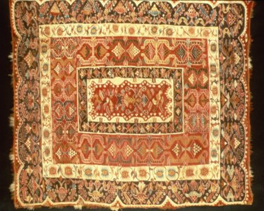 Tapestry, early 18th century. Camelid fiber, 77 3/4 x 67 3/4in. (197.5 x 172.1cm). Brooklyn Museum, Museum Collection Fund, 46.133.1. Creative Commons-BY
