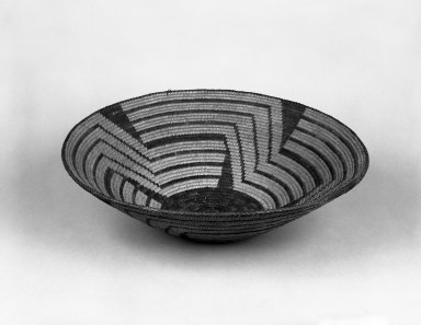 Possibly Pima (Native American). Broad Basketry Bowl. Fiber, 4 5/8 in.  (11.8 cm). Brooklyn Museum, Gift of Pratt Institute, 46.136.8. Creative Commons-BY