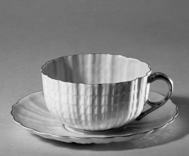 American. Cup and Saucer. Porcelain Brooklyn Museum, Gift of Julie Husson, 46.144.3a-b. Creative Commons-BY
