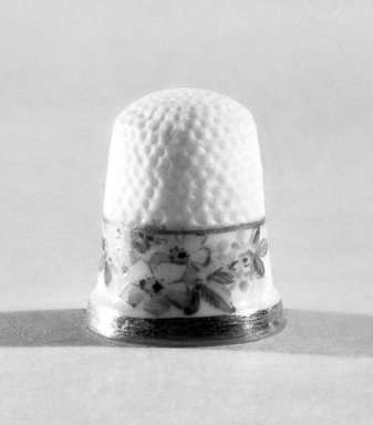 American. Thimble, ca. 1883 - 1892. Porcelain, 3/4 x 5/8 in. (1.9 x 1.6 cm). Brooklyn Museum, Gift of Julie Husson, 46.144.5. Creative Commons-BY