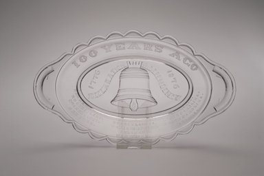 American. Pickle Dish (Centennial), ca. 1876. Glass, 1 3/8 x 9 3/8 x 5 3/8 in. (3.5 x 23.8 x 13.7 cm). Brooklyn Museum, Anonymous gift, 46.161.2. Creative Commons-BY