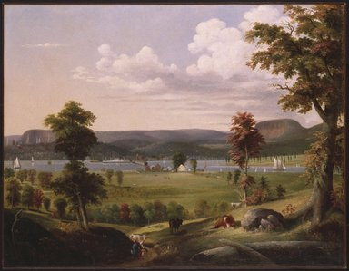 George H. Durrie (American, 1820-1863). Summer Landscape Near New Haven, ca. 1849. Oil on canvas, 35 7/16 x 49 3/8 in. (90 x 125.4 cm). Brooklyn Museum, Dick S. Ramsay Fund, 46.162