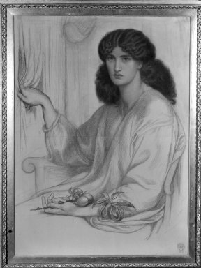 Dante Gabriel Rossetti (British, 1828-1882). Silence, 1870. Dry pigment (pastel or chalk) on two sheets of joined wove paper, 41 7/8 x 30 3/8 in. (106.4 x 77.2 cm). Brooklyn Museum, Gift of Luke Vincent Lockwood, 46.188