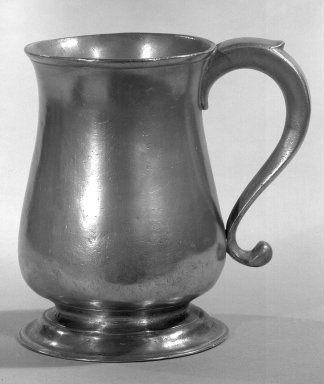 William Will. Pewter Mug, 1764-1798. Pewter, 6 1/8 x 4 1/2 in. (15.6 x 11.4 cm). Brooklyn Museum, Museum Collection Fund, 46.191. Creative Commons-BY