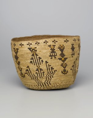 Brooklyn Museum: Imbricated Basket with Geometric Figures