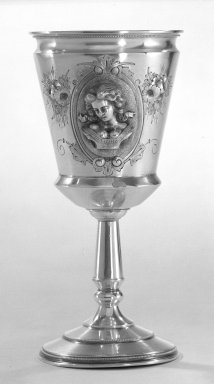 Wood & Hughes (1845-1899). Goblet, 1870. Silver, 7 in. (17.8 cm). Brooklyn Museum, Gift from the Estate of General John B. Woodward through Sophia W. Haynes, 46.21.2. Creative Commons-BY