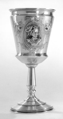 Wood & Hughes (1845-1899). Goblet, 1870. Silver, 7 in. (17.8 cm). Brooklyn Museum, Gift from the Estate of General John B. Woodward through Sophia W. Haynes, 46.21.3. Creative Commons-BY