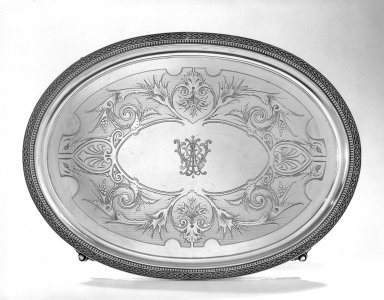 Tray, 1870. Silver Brooklyn Museum, Gift of the Estate of General John B. Woodward, 46.21.4. Creative Commons-BY
