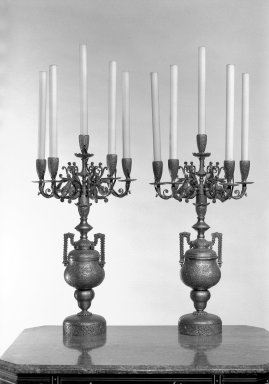 Candelabra, One of Pair, ca. 1880. Silver, gilt, 21 x 12 1/4 in. (53.3 x 31.1 cm). Brooklyn Museum, Gift of John D. Rockefeller, Jr., 46.43.12. Creative Commons-BY