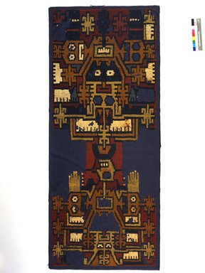 Nasca. Textile Fragment, 100-300. Camelid fiber, cotton (used only for the white parts), 64 3/4 x 26 in. (164.5 x 66 cm). Brooklyn Museum, A. Augustus Healy Fund and Carll H. de Silver Fund, 46.46.3. Creative Commons-BY