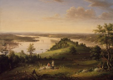 Henry Ary (American, 1802 or 1807-1859). View from Mount Merino near Hudson, 1849. Oil on canvas, 25 9/16 x 35 7/8 in. (65 x 91.1 cm). Brooklyn Museum, Dick S. Ramsay Fund, 46.94