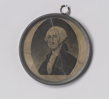 Gilbert Stuart (American, 1755-1828). Frame, ca. 1800. Pewter, glass, paper, 3 1/4 x 3 1/4 x 1/4 in. (8.3 x 8.3 x 0.6 cm). Brooklyn Museum, Gift of Arthur W. Clement, 47.1.6. Creative Commons-BY