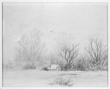 Ralph Albert Blakelock (American, 1847-1919). Snow Scene. Watercolor Brooklyn Museum, Gift of Elizabeth Newbrough, 47.121