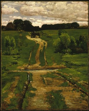 Frederick Childe Hassam (American, 1859-1935). A Back Road, 1884. Oil on canvas, 31 x 24 3/4 in. (78.8 x 62.8 cm). Brooklyn Museum, Caroline H. Polhemus Fund, 47.122