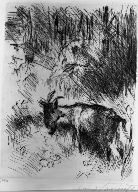 Lovis Corinth (German, 1858-1925). Walchensee in Moonlight (Walchensee im Mondschein), 1921. Etching on wove paper, Other (front cover): 16 7/8 x 14 in. (42.9 x 35.6 cm). Brooklyn Museum, Gift of Lewis Turner, 47.139.2.1