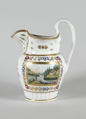 Tucker and Hemphill. Pitcher, 1833-1836. Porcelain, Height: 9 5/16 in. (23.7 cm). Brooklyn Museum, Brooklyn Museum Collection, 47.145. Creative Commons-BY