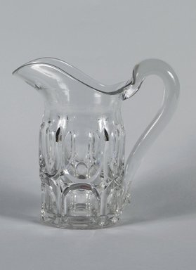Chester County Glass Company. Pitcher, 1857. Pressed Glass, 8 3/4 in. (22.2 cm). Brooklyn Museum, Gift of Mrs. Charles McDowell, 47.149.3. Creative Commons-BY
