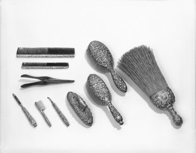 Tiffany & Company (American, founded 1853). Large Hair Brush, ca. 1880. Sterling silver, length: 8 3/4 in. Brooklyn Museum, Anonymous gift, 47.165.1. Creative Commons-BY