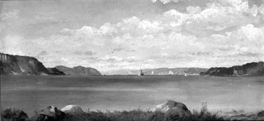 John Williamson (American, 1826-1885). Tappan Zee, from Glenwood, 1872. Oil on canvas, 9 9/16 x 19 in. (24.3 x 48.3 cm). Brooklyn Museum, Dick S. Ramsay Fund, 47.197