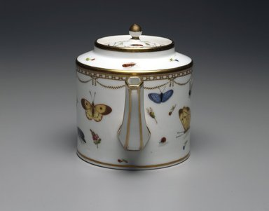 Meissen Porcelain Factory (copy of). Teapot: Part of 17-Piece Tea Service, ca. 1825-1830. Porcelain, height: 5 3/8 in. Brooklyn Museum, Gift of Susan D. Bliss, 47.210.57. Creative Commons-BY