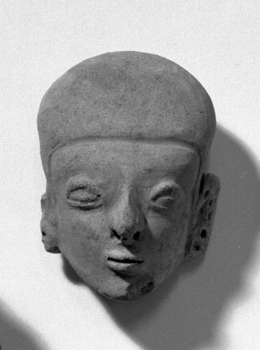 Head. Pottery, 3 1/8 x 2 3/16 in. (8 x 5.6 cm). Brooklyn Museum, Anonymous gift, 47.212.2. Creative Commons-BY