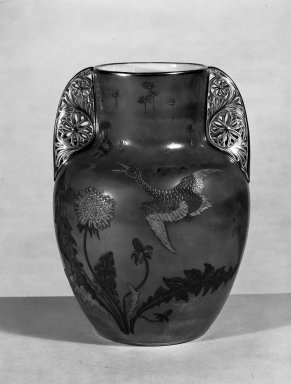 Ott and Brewer (1871-1893). Vase, ca. 1885. Porcelain, gold paste, 10 1/16 x 7 3/8 in. (25.6 x 18.7 cm). Brooklyn Museum, Gift of Mrs. Willard C. Brinton, 47.30.3. Creative Commons-BY