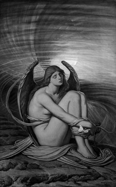 Elihu Vedder (American, 1836-1923). Soul in Bondage, 1891-1892. Oil on canvas, 37 13/16 x 24 in. (96.1 x 60.9 cm). Brooklyn Museum, Gift of Mrs. Harold G. Henderson, 47.74