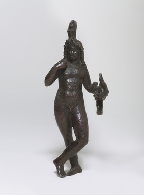Standing Statuette of Harpocrates in the Greek Style. Bronze, 5 13/16 in. (14.8 cm). Brooklyn Museum, Charles Edwin Wilbour Fund, 47.87. Creative Commons-BY