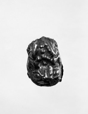 Hollow Repoussé Amulet in the Form of a Frog. Gold, 1 x 1 x 1 3/16 in. (2.5 x 2.5 x 3 cm). Brooklyn Museum, Henry L. Batterman Fund, 47.9. Creative Commons-BY