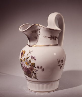 William Ellis Tucker. Pitcher, 1830. Porcelain Brooklyn Museum, Gift of Arthur W. Clement, 48.1.10. Creative Commons-BY