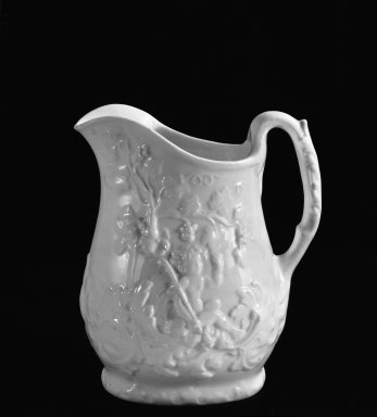 William Boch & Brothers. Pitcher, ca. 1853. Porcelain, H: 7 1/4 in. (18.4 cm). Brooklyn Museum, Gift of Arthur W. Clement, 48.1.3. Creative Commons-BY