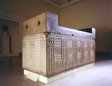 Sarcophagus with Separate Cover, ca. 2555-2532 B.C.E. Granite, 51 1/4 x 93 1/4 x 41 in. (130.2 x 236.9 x 104.1 cm). Brooklyn Museum, Charles Edwin Wilbour Fund, 48.110. Creative Commons-BY