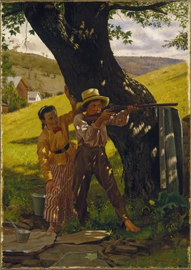 John George Brown (American, born England, 1831-1913). A Sure Shot, ca. 1875. Oil on canvas, 20 7/8 x 14 13/16 in. (53.1 x 37.7 cm). Brooklyn Museum, Dick S. Ramsay Fund, 48.139