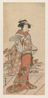 Katsukawa Shunsho (Japanese, 1726-1793). Iwai Hanshiro IV, ca. 1785. Woodblock color print, 12 3/8 x 5 11/16 in. (31.5 x 14.3 cm). Brooklyn Museum, Gift of Louis V. Ledoux, 48.15.8