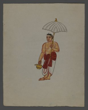 Brooklyn Museum: One of Set of Nine Watercolors showing Indians in Different Professions