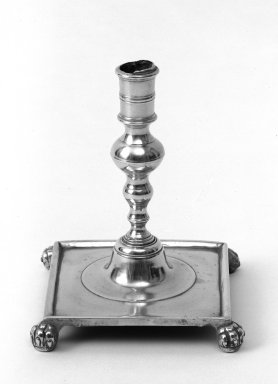 Candlestick, mid 18th century. Brass, 7 x 5 1/4 in. (17.8 x 13.3 cm). Brooklyn Museum, Gift of Mr. and Mrs. Luke Vincent Lockwood, 48.180.2. Creative Commons-BY