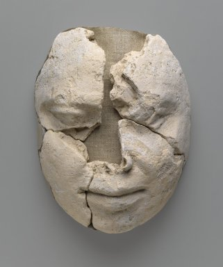 Mummy Mask. Plaster, Lips: 1 1/8 x 4 1/4 x 4 3/4 in. (2.9 x 10.8 x 12 cm). Brooklyn Museum, Charles Edwin Wilbour Fund, 48.183a-d. Creative Commons-BY