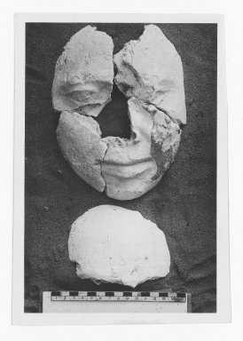 Mummy Mask of a Man Consisting of the Face Only. Plaster, Lips: 1 1/8 x 4 1/4 x 4 3/4 in. (2.9 x 10.8 x 12 cm). Brooklyn Museum, Charles Edwin Wilbour Fund, 48.183a-d. Creative Commons-BY