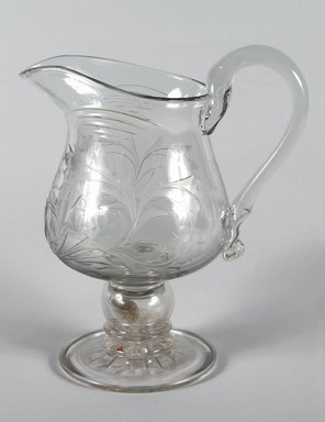 Thomas Jr. Leighton. Pitcher, ca. 1845. Blown glass, 11 in. (27.9 cm). Brooklyn Museum, Dick S. Ramsay Fund, 48.185. Creative Commons-BY