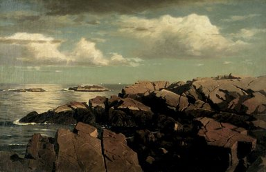 William Stanley Haseltine (American, 1835-1900). After a Shower -- Nahant, Massachusetts, ca. 1864. Oil on canvas, 14 7/8 x 22 15/16 in. (37.8 x 58.3 cm). Brooklyn Museum, Gift of Helen H. Plowden , 48.197