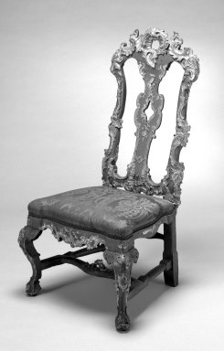 Side Chair, 18th century. Walnut, 44 1/2 x 20 1/4 x 17 3/4 in. (113 x 51.4 x 45.1 cm). Brooklyn Museum, Frank L. Babbott Fund, Frank Sherman Benson Fund, Carll H. de Silver Fund, A. Augustus Healy Fund, Caroline A.L. Pratt Fund, Charles Stewart Smith Memorial Fund, and Ella C. Woodward Memorial Fund, 48.206.45. Creative Commons-BY