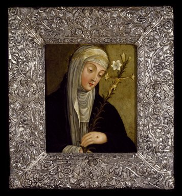 Unknown. Saint Catherine of Siena, 17th century. Painting: Oil on copper