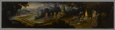 Cuzco School. The Legend of Santa Sophronia, late 17th century. Oil on canvas, 21 x 87in. (53.3 x 221cm). Brooklyn Museum, Frank L. Babbott Fund, Frank Sherman Benson Fund, Carll H. de Silver Fund, A. Augustus Healy Fund, Caroline A.L. Pratt Fund, Charles Stewart Smith Memorial Fund, and Ella C. Woodward Memorial Fund, 48.206.88