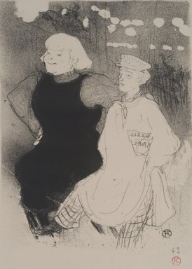 Henri de Toulouse-Lautrec (French, 1864-1901). Au Moulin-Rouge: L'Union Franco-Russe, 1894. Lithograph on heavy China paper, 13 x 9 3/4 in. (33 x 24.8 cm). Brooklyn Museum, By exchange, 48.209.3