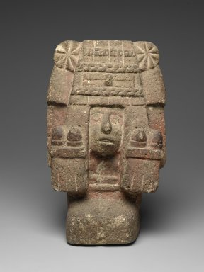 Aztec. Chicomecoatl - Seated Figure of Goddess, ca. 1440-1521. Stone, 15 1/2 x 9 1/2 x 6 1/4 in. Brooklyn Museum, By exchange, 48.22.3. Creative Commons-BY