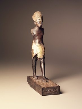 Amunhotep III, ca. 1390-1352 B.C.E. Wood, gilded, Total height: 10 3/8 in. (26.3 cm). Brooklyn Museum, Charles Edwin Wilbour Fund, 48.28. Creative Commons-BY