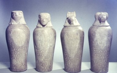 Canopic Jar with Lid of the Royal Scribe and Chief Lector Priest, Thenry